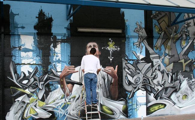 Fresques Par Ofser, Steve Locatelli - Bruxelles (Belgique)