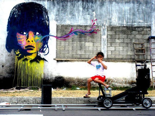 Street Art Par Stinkfish - Ville De Guatemala (Guatemala)
