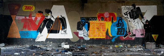 Street Art Par Zbiok - Varsovie (Pologne)