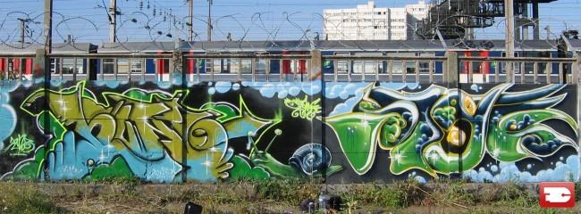 Big Walls By Hunz, Styk2 - Levallois (France)