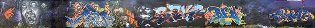 Fresques Par Papy, Mask, Yoda, Milouz, Real - Paris (France)