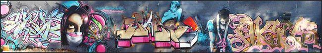 Fresques Par Wask - Marseille (France)