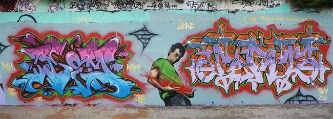 Fresques Par Idem, Jerc - Clermont-l'Herault (France)