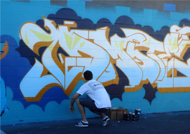 Street Art Par Dmote - San Diego (CA)