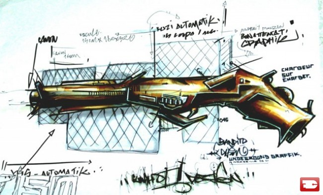 Sketch Par Bandi - Marseille (France)