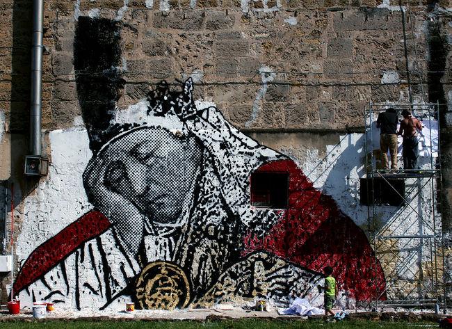Street Art Par Sten, Lex - Palerme (Italie)