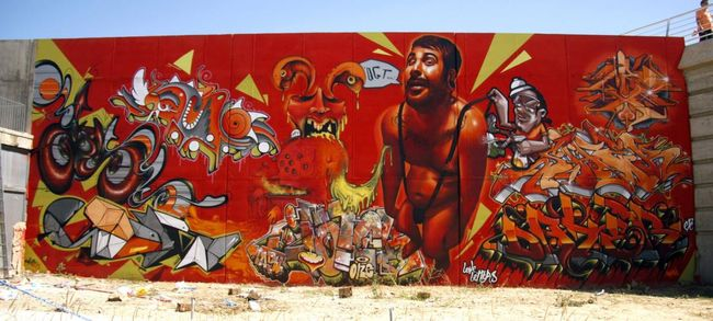 Big Walls By Lahe, Belin, Dater, Myrhwam - Zaragoza (Spain)