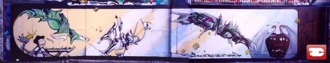 Fresques Par Violon, Cevys, Hosru - Lyon (France)