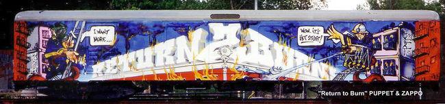 Fresques Par Mr Puppet - Stockholm (Suede)