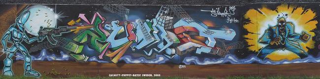 Fresques Par Mr Puppet, Bates, Kacao - Stockholm (Suede)