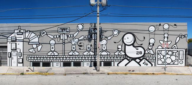 Street Art Par The London Police - Miami (FL)
