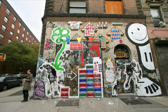 Street Art By Above, Michael De Feo, Wk, Skewville, The London Police - New York City (NY)