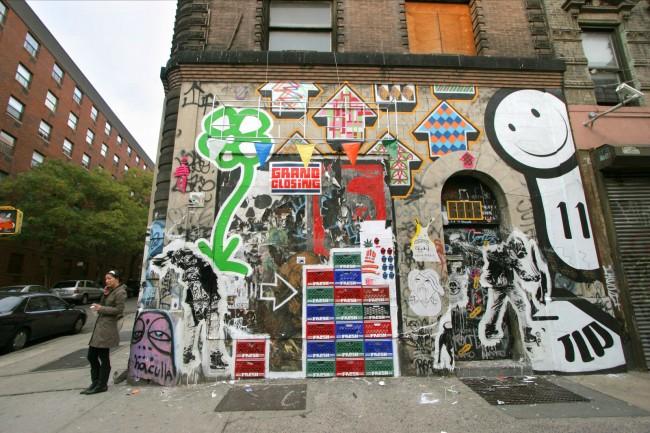 Street Art Par Above, Michael De Feo, Wk, Skewville, The London Police - New York City (NY)
