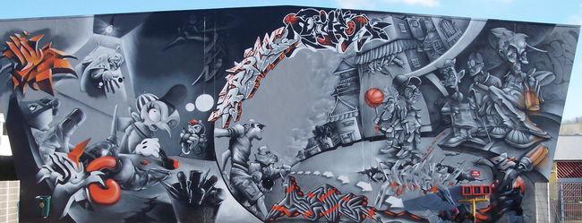 Fresques Par Mite, Aise, Lez, Samp, Dino, Malik, Soem , Jone  - Queven (France)