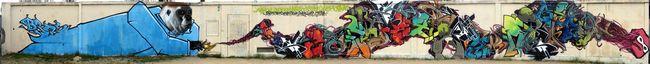 Fresques Par Bros, Zemar, Wesh, Slick, Kems, Obwan, Gams - Bordeaux (France)