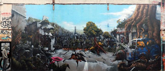 Fresques Par Papy, Milouz, Kotek, Ba.2k, Hopare, Staf - Paris (France)