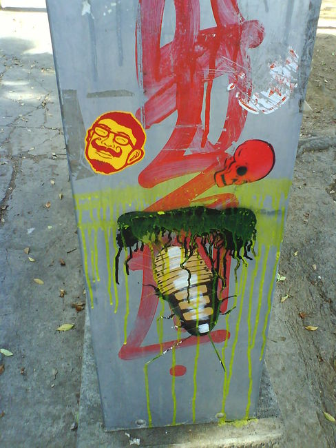 Street Art Par Abu - Oaxaca De Juarez (Mexique)