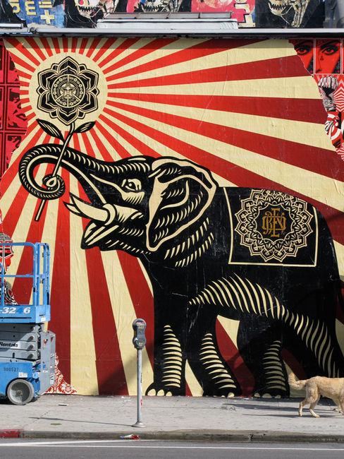 Street Art Par Obey - Los Angeles (CA)