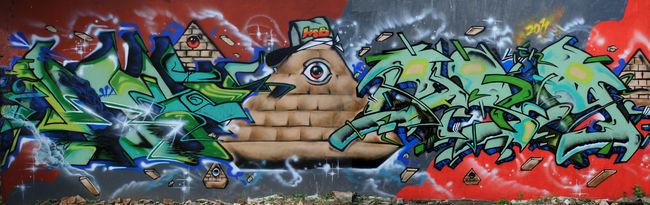 Fresques Par Clown, Argh, Lunadash9 - Makassar (Indonesie)