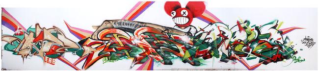 Fresques Par Clown, Argh, Lunadash9, Indy - Makassar (Indonesie)