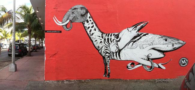 Street Art Par Juan Fernandez - Miami Beach (FL)
