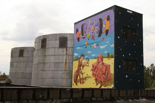 Street Art Par Aec, Waone - Kiev (Ukraine)