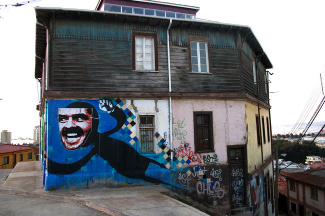 Street Art Par Evaze, Sir - Valparaiso (Chili)