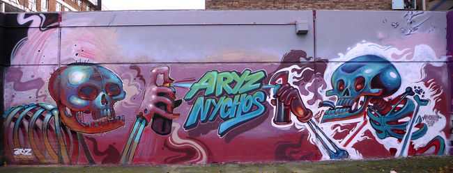 Big Walls By Aryz, Nychos - London (United Kingdom)