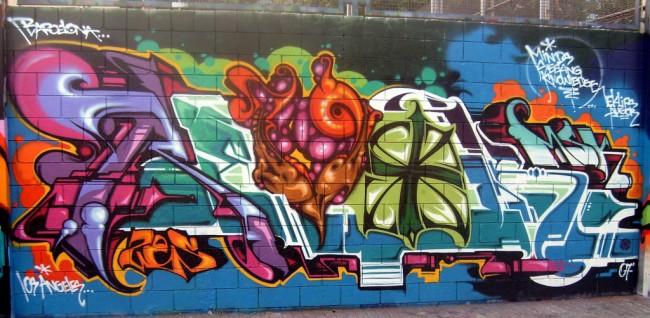 Piece By Revok - Barcelona (Spain)