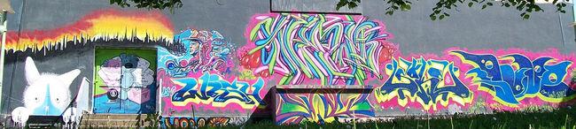 Big Walls By Lune, Neur, Soke, Wish, Ste De, Vins Fred - Perigord (France)