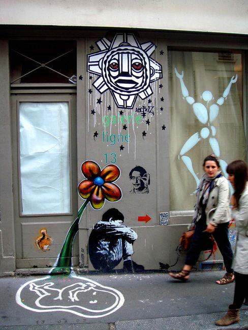 Street Art Par Jef Aerosol, Arnaud Rabier Nowart - Paris (France)