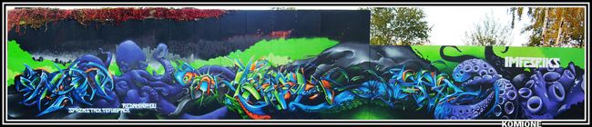 Fresques Par Spazm, Amin, Phou, Stack, Red, 6pak, Tefu - Ivry-sur-Seine (France)