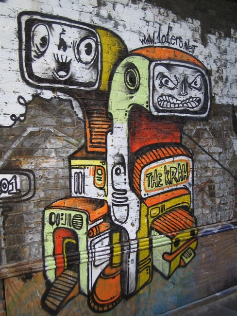 Street Art Par The Krah - Londres (Royaume Uni)