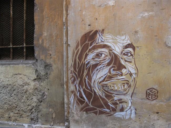 Street Art Par C215 - Rome (Italie)