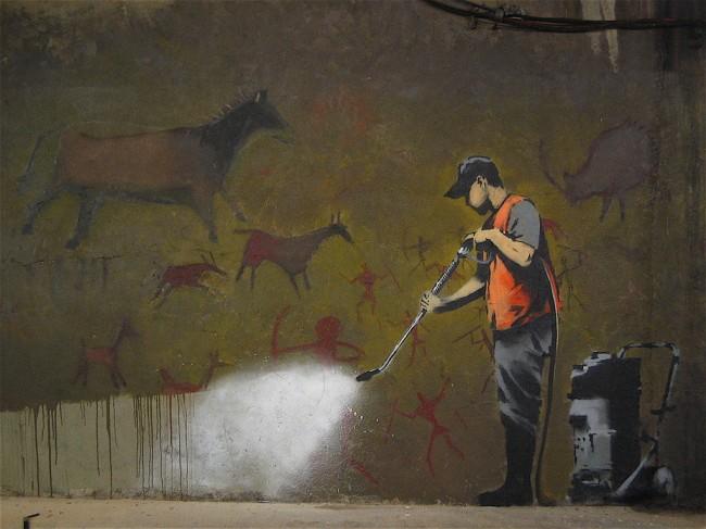 Street Art Par Banksy - Londres (Royaume Uni)