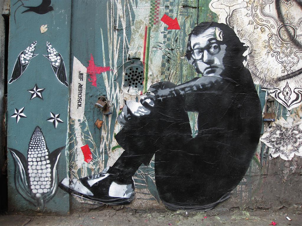 Street art by jef aerosol new york city ny street for Art et artiste