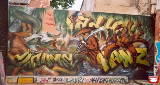 Fresques Par Deux, Sun.c, Hunz, Saloper, Lady.k - St.-Denis (France)