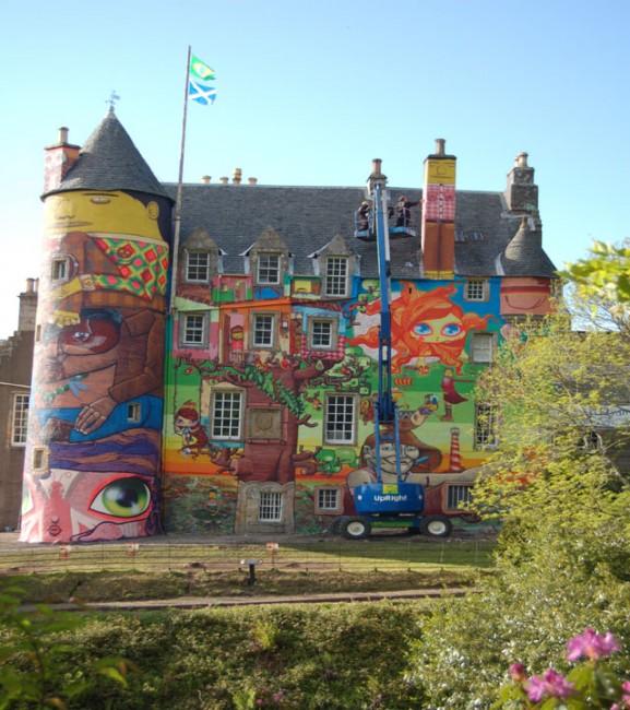 Street Art By Os Gemeos - Glasgow (United Kingdom)