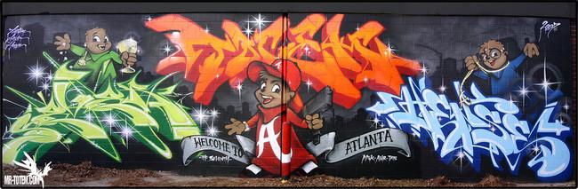 Big Walls By Sever, Totem2, Hense - Atlanta (GA)