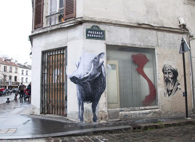 Street Art Par Hopare, Goliath - Paris (France)