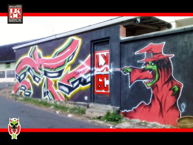 Street Art Par Mohawk - Ambarawa (Indonesie)