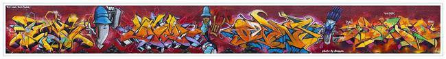 Fresques Par Sen2, Logek, Owns, Teck - New York City (NY)