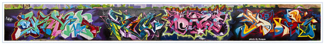 Fresques Par Bio, Dmote, Daze, Knows - New York City (NY)