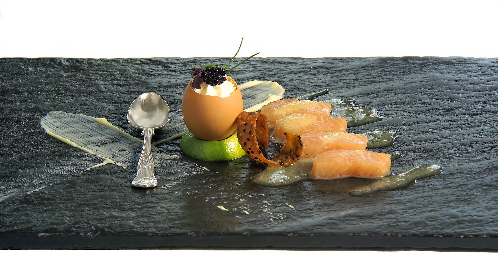 Wordsworth Restaurant Menu Image: Starter presented on Lake District slate platter