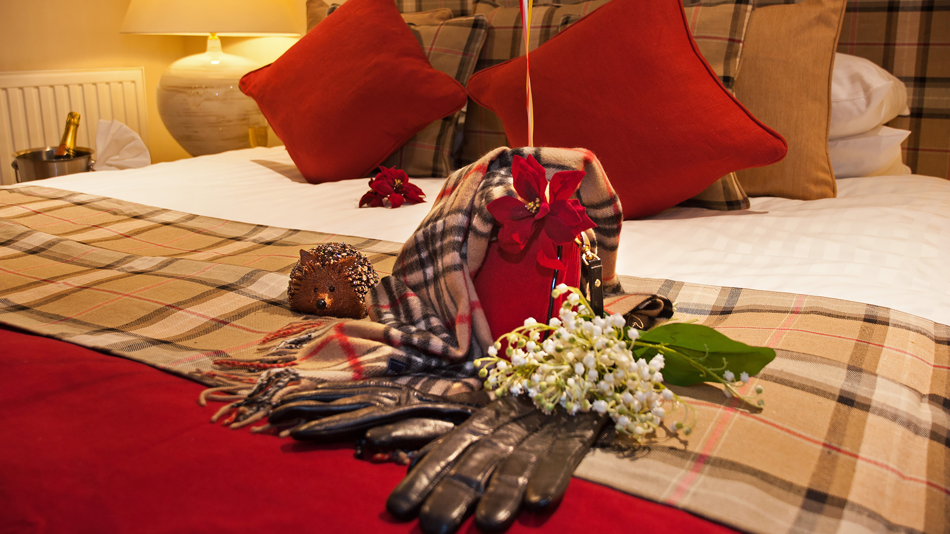 Room Detail Showing luxury trimmings to make guests feel welcome