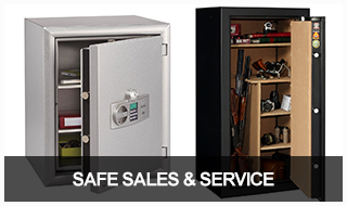 Image of 2 large floor safes