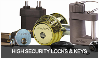 Image of high security locks and keys