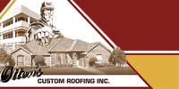 Website for Otten's Custom Roofing, Inc.