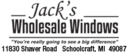 Website for Jack's Wholesale Windows & Siding, Inc.