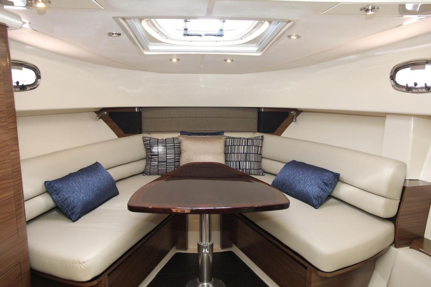 2017 Boston Whaler 345 Conquest, Forward U-Shaped Dinette
